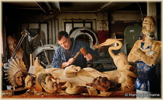 Sal Polisi, Master Woodcarver. Photo Copyright Randy Duchaine
